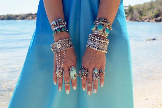 Boho Coin Coachella Festival Turkish Jewelry Tribal Ethnic Statement Bracelet