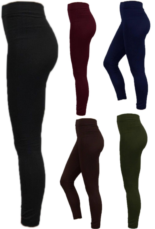 NEW Women Ladies Thick Winter Thermal Fleece Leggings Warm Size 6-18