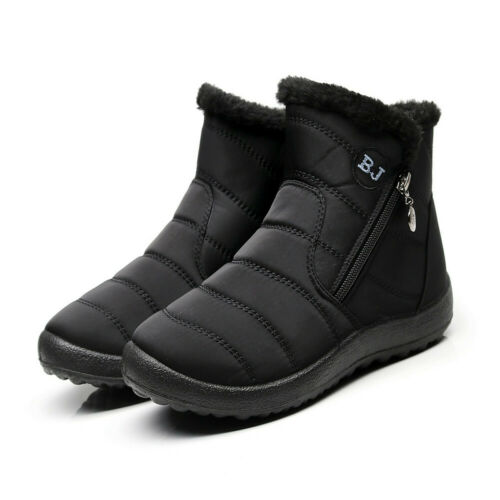 Women Thick Fleece Lined Snow Boots Winter Warm Non-slip Cotton Waterproof Shoes