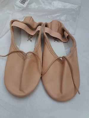 Chicas Rosa Cuero Zapatos De Ballet mover Dancewear Talla 13.5