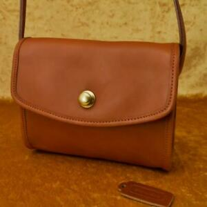 Details About Old Coach 80 S Vintage Shoulder Bag Brown Leather Made In Usa Rare