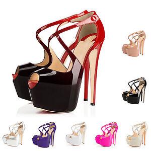 MERUMOTE-Summer-Women-Gradient-Cross-Strap-High-Heel-Platform-Sandals-Stilettos