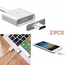 2X MAGNET LADEKABEL MICRO USB MAGNETKABEL MAGNETISCH SAMSUNG Android Telefon