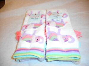 Girls Cat And Jack Knee High Flower Socks Size s 5 1//2-8 1//2 New