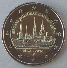 """2 Euro Lettland 2014 """"Kulturhauptstadt Riga"""" unz."""