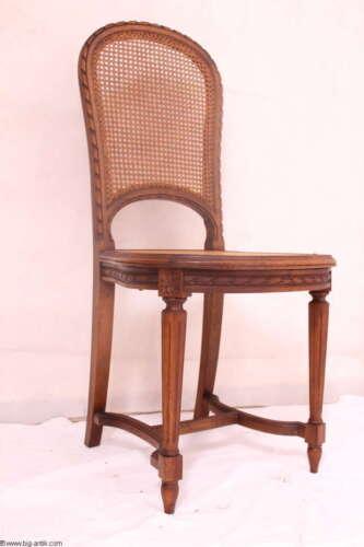 Zauberhafter antiker Jugendstil Salonstuhl Holzstuhl Sitzgeflecht 5 Vorhanden