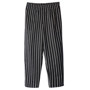 CHEF TROUSERS Stripe Kitchen Catering Cook Pants Uniform Unisex M-4XL