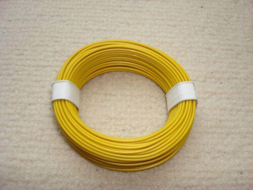 10 m LIY Kabel Litze 0,14mm² flexibele Kupferlitze Schaltlitze Farbe gelb