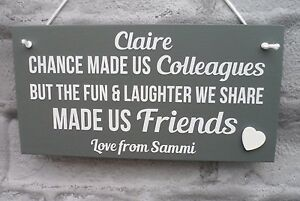 Personalised Plaque Friends Chance Made