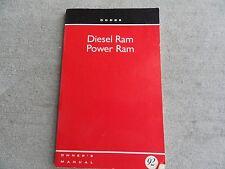1992 Dodge Ram Diesel and Power Ram  Owners Manual