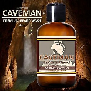 Handcrafted-Caveman-Beard-Wash-Shampoo-Bay-Rum-4oz-120ml