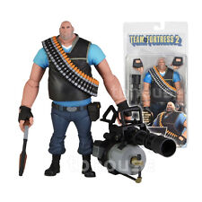 "7"" THE HEAVY figure TEAM FORTRESS 2 limited edition BLU neca BLUE w/IN-GAME CODE"