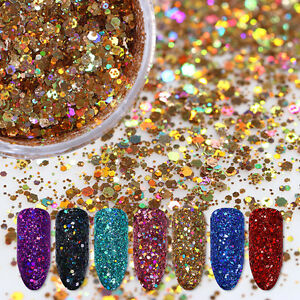 2g-Holographic-Nail-Flakes-Multi-Size-Hexagon-Sequins-Glitter-Powder-Born-Pretty