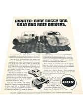 1972 Cox Dune Buggy Baja Bug Meyers Volkswagen VW -  Vintage Car Print Ad J416