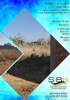 Terreno en Paraje Las Flores en Zaachila