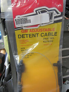 Details about GM TH350 350C TH200 200C TH250 250C TV Detent Kick Down Cable  K35955U ADJUSTABLE
