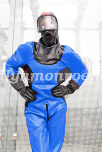 Latex Rubber CoolCatsuit Fashion Bodysuit Kostüm Costume Ball Firefighter XS-XXL