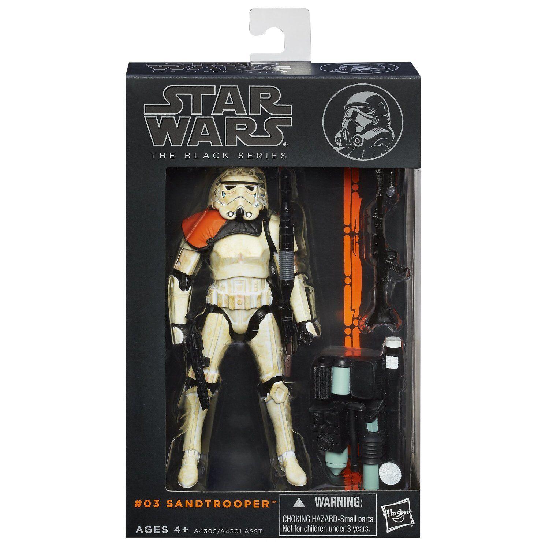 Star Wars Negro Series Wave 1  03 Sandtrooper 6 Pulgadas Figura Naranja Pauldron Leader