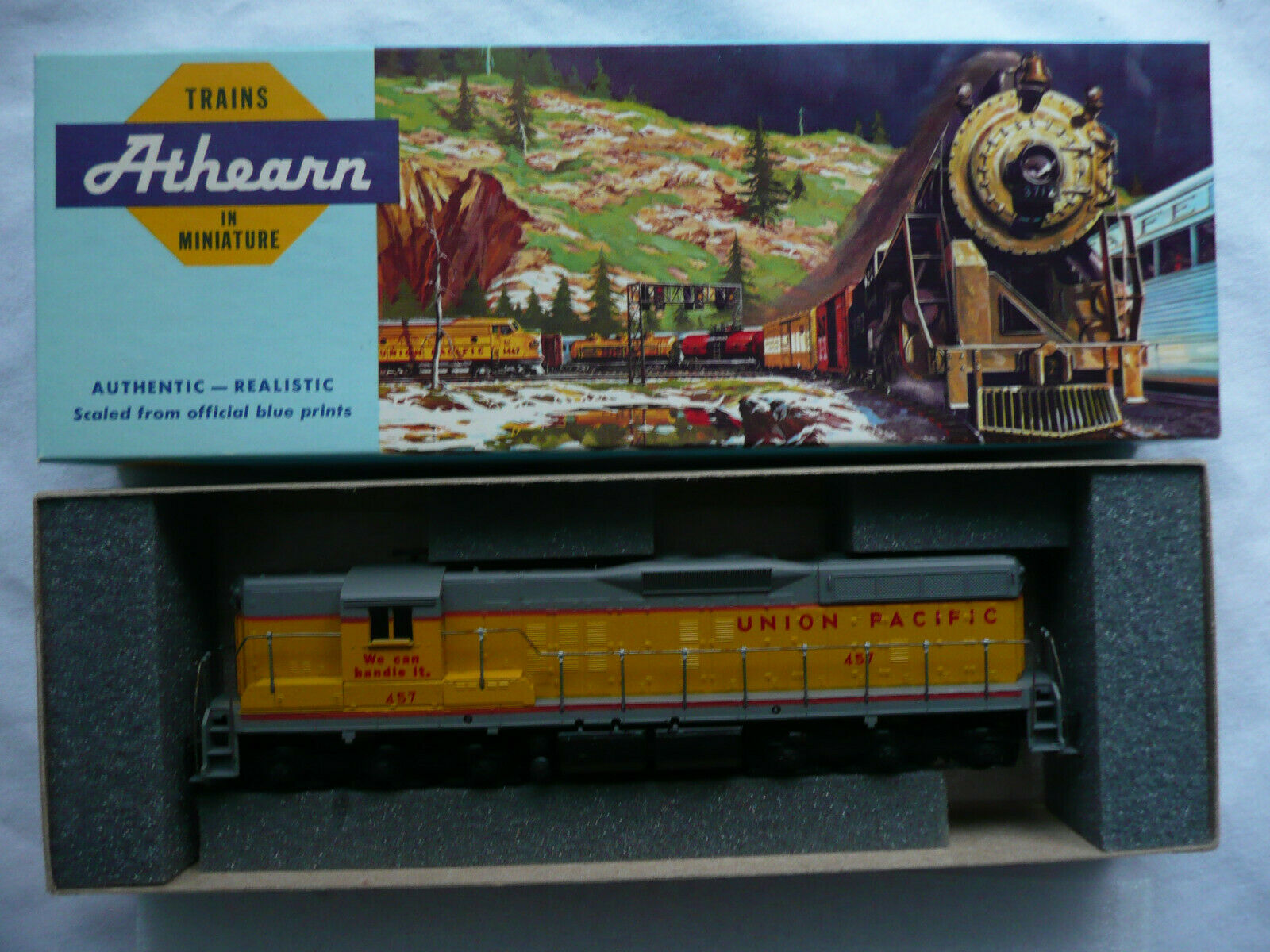 Athern 3806 SD 9 9 9 PWR Union Pacific Diesellok Nr. 457  We can handle it  H0    Hohe Qualität  de2719