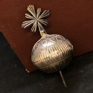 Globo croce bambino Praga bambinello accessorio Santi arte Sacra creche Ihs 4 Cm
