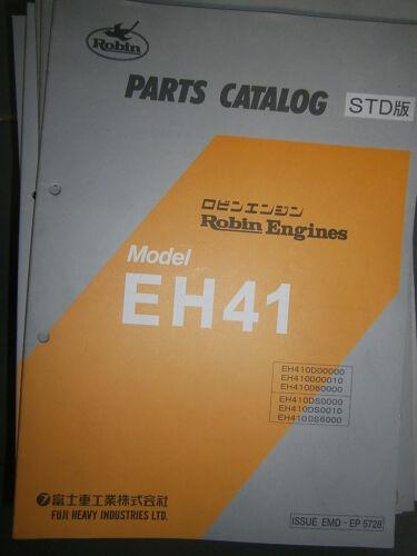 ROBIN Engines EH41 Parts Catalog 10//1998
