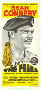 THE-HILL-MOVIE-POSTER-Australian-13x30-Folded-Daybill-Size-SEAN-CONNERY-1965