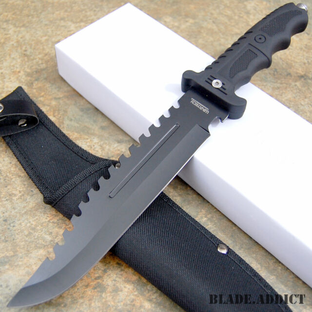 """13"""" Fixed Blade Survival Tactical Fishing Hunting Knife w/ Sheath Bowie Camping"""