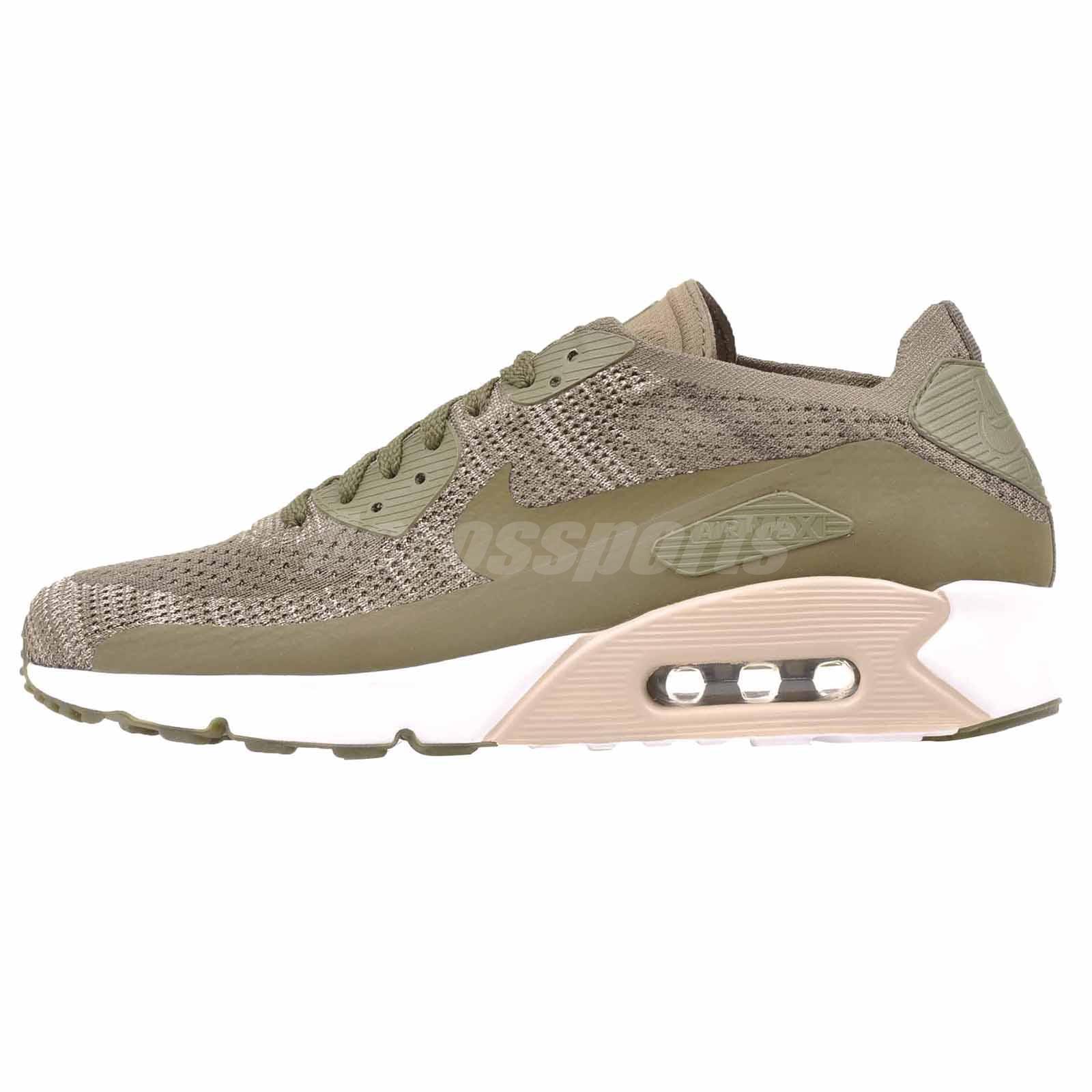 Nike Air Max 90 Ultra 2.0 Flyknit Running Uomo Shoes Medium Olive 875943-200