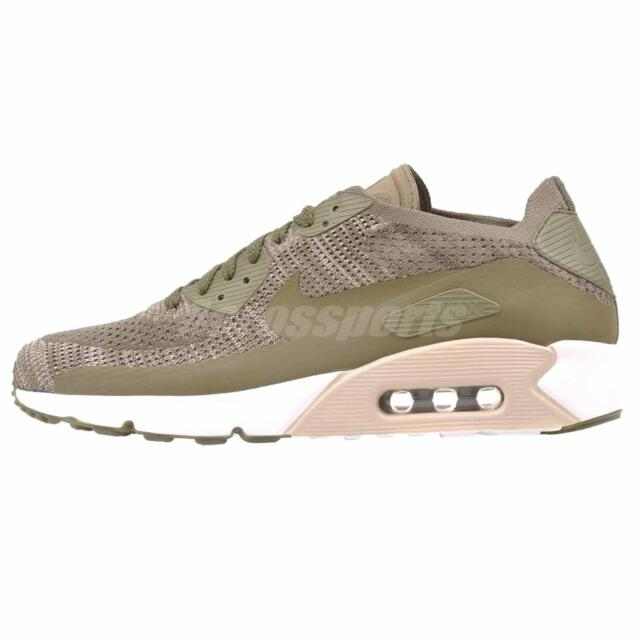 separation shoes 6dd81 87501 Nike Air Max 90 Ultra 2.0 Flyknit Running Mens Shoes Medium Olive 875943-200