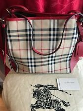 67cbc859120d Burberry Women s Small Canter in Horseferry Check   Leather Beige Red Trim  -NWT! Burberry Women s Small Canter in Horseferry Check   Leather Beige Red  Trim