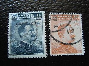 italia-sello-yvert-y-tellier-n-102-103-matasellados-A11-stamp-Italia-A