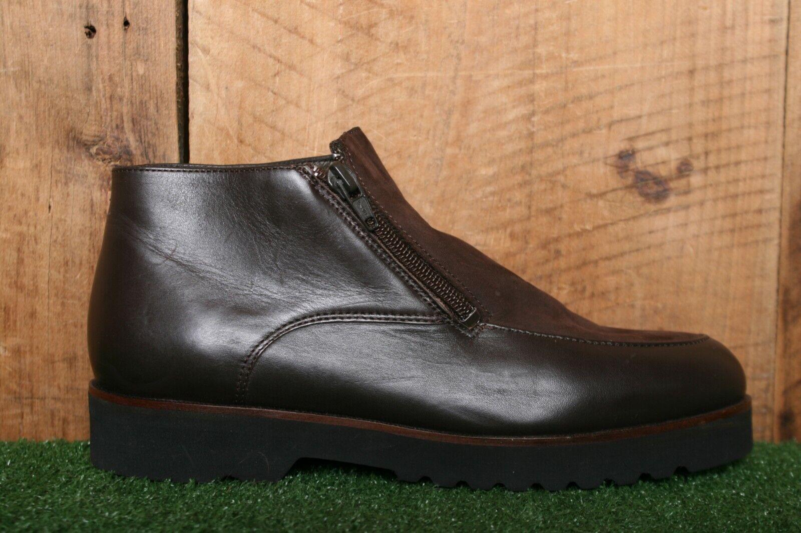 L.L. BEAN Brown Leather & Nubuck Side Zip Mid Ankle Boots Women's Sz. 7.5 M