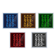 Mini Digital Voltmeter Ammeter 22mm Ac 60 500v 0 100a 20 75hz Amp Volt Meter Led