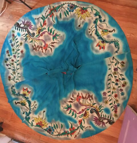 Vintage Mexican Circle Skirt-Handpainted beauty