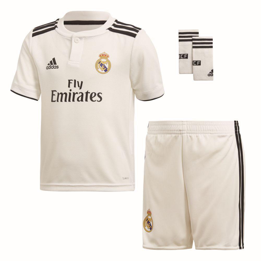 Adidas Kinder Fußball Real Madrid CF Home Mini Kit 2018 2019 Heimset white schwar