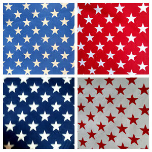 PATRIOTIC-STARS-AMERICAN-STAR-PRINT-POLY-COTTON-FABRIC-60-034-BY-THE-YARD-4-COLORS