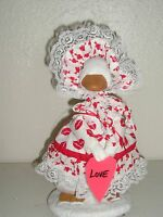 Goose Geese 11 Teen Clothes Valentine Dress & Hat Red Outfit 872-5 Sale
