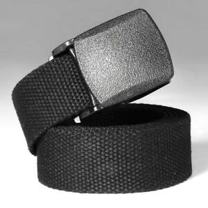 Men-039-s-Outdoor-Sports-Military-Tactical-Nylon-Waistband-Canvas-Web-Belt-Dazzling