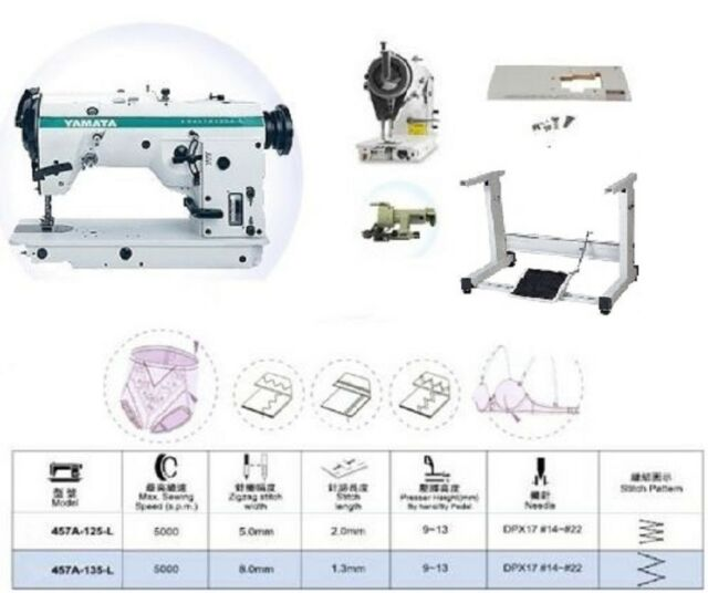 Yamata 40u40l 40step Zig Zag Industrial Sewing Machine Table Extraordinary Industrial Zigzag Sewing Machine