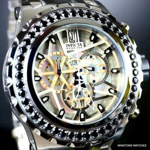 Invicta Reserve JT Subaqua Specialty 5CTW Spinel Stainless Steel MOP Watch New