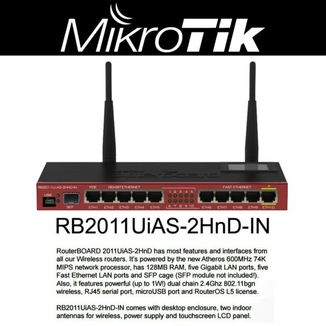 Mikrotik Routerboard RB2011UiAS-2HnD-IN Sfp Port plus 10 Port Ethernet