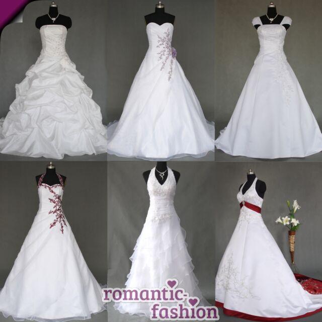 Neu Brautkleid Hochzeitskleid Weiß Größe 34 bis 54 viele Modelle Deutschland!!!