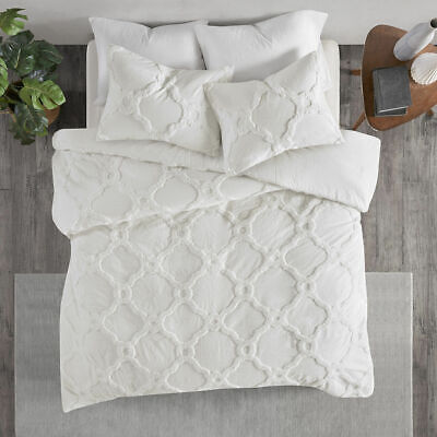 Beautiful Luxurious Shabby Chic White Ultra Soft Plush Chenille