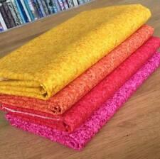 COLOUR BLENDS Batik fabric bundle WARM blender FQs 100%cotton QUILTING TREASURES