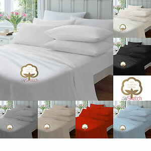 100-EGYPTIAN-COTTON-EXTRA-DEEP-FITTED-40CM-16-034-23CM-9-034-SHEETS-PILLOW-COVER
