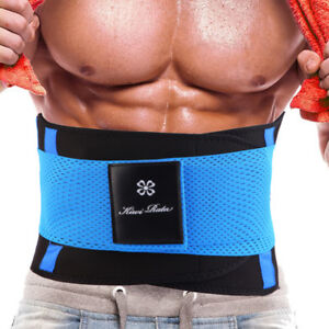 3e81441598f Mens Boned Waist Trainer Trimmer Slimming Belt Hot Sauna Sweat Belly ...