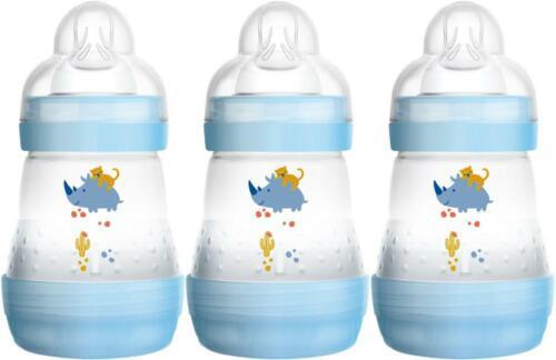 MAM Easy Start bouteille 160 ml 3 Pack-Bleu Bébé Alimentation lait Entièrement neuf sous emballage