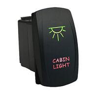 Rocker Switch 6m10gr 12v Cabin Light Led Green Red On Off Waterproof Marine