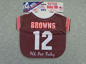 premium selection 11217 311fa Details about Vintage NFL Cleveland Browns Baby Bib - Babys, Infant,  Toddlers, SUPER RARE !!