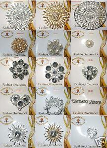 round-pearl-FASHION-BROOCH-PIN-BADGE-OCCASION-CRYSTAL-DIAMANTE-BOUQUET-WEDDING